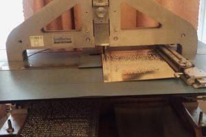 Фото: Оборудование для печати книг по брайлю. Описание по ссылке