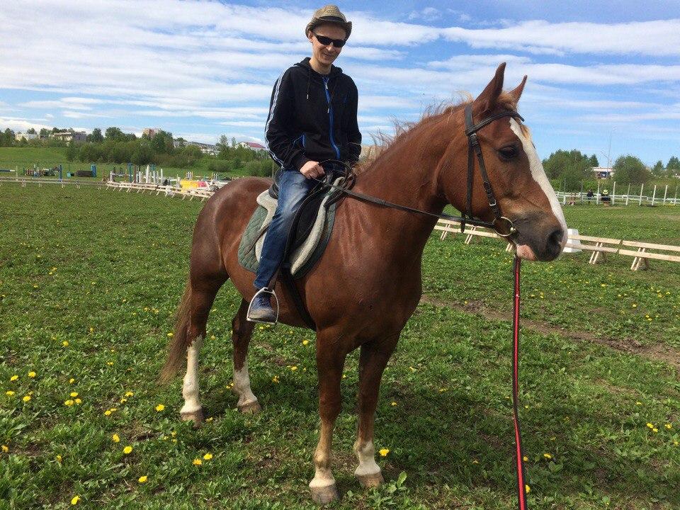 Игорь Максимов на коне. Фото