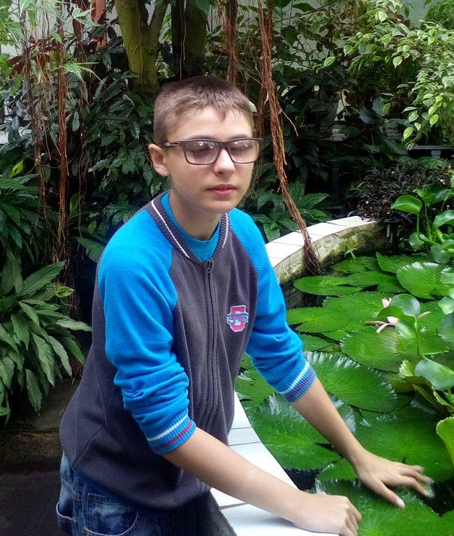 Школьник Олег Суворин. Фото