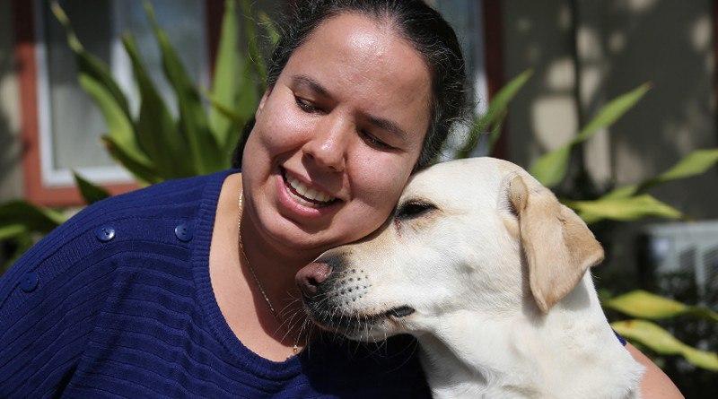Фото с собакой-проводником