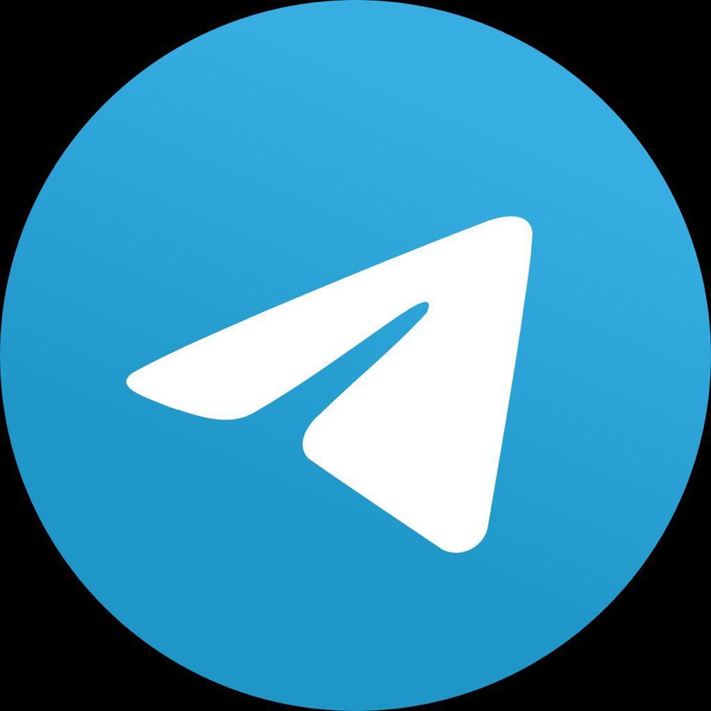 Логотип telegram. Бумажный самолётик на синем фоне