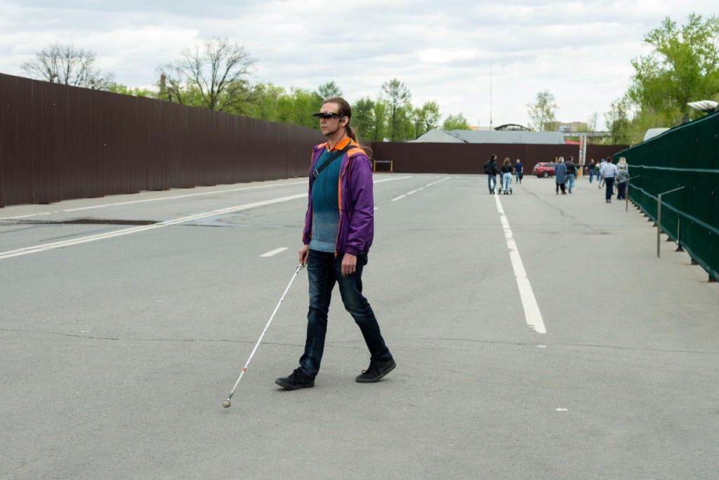 Вадим Арцев с устройством voice vision